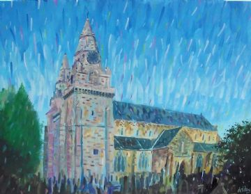 St Machar Cathedral Oil Painting